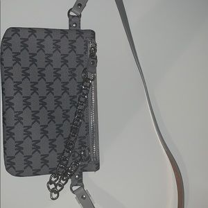 Michael Kors Grey Clutch Bag